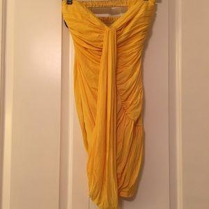 Bebe Yellow Mini Dress